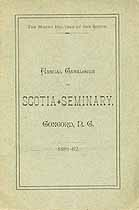 Thumbnail image of Scotia Seminary 1881-82 Catalogue cover