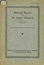 Thumbnail image of St. Agnes' Hospital 1912-1912 Report cover