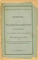 Thumbnail image of Phila. Protestant Episcopal Hospital 1887 Report cover