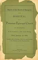 Thumbnail image of Phila. Protestant Episcopal Hospital 1888 Report cover