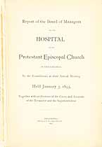 Thumbnail image of Phila. Protestant Episcopal Hospital 1893 Report cover
