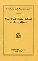 Thumbnail image of N. Y. School of Agriculture 1923-24 Catalogue cover