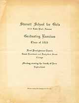 Thumbnail image of Starrett School for Girls 1923 Graduation cover
