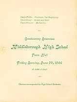 Thumbnail image of Middleborough High School 1906 Graduation cover