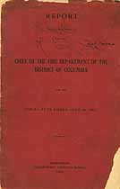 Thumbnail image of District of Columbia Fire Department 1905 Report cover