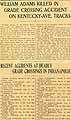 Thumbnail image of Deadly Grade Crossings in Indianapolis (1897-1902) cover