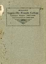 Thumbnail image of Greenville Female College 1907-1908 Catalogue cover