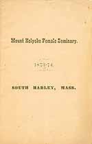 Thumbnail image of Mt. Holyoke Female Seminary 1874 Catalogue cover