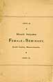 Thumbnail image of Mt. Holyoke Female Seminary 1886 Catalogue cover