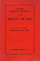 Thumbnail image of Niagara Falls Bureau of Fire 1925 Report cover