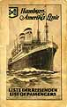 Thumbnail image of Albert Ballin 1928 Souvenir Passenger List (Hamburg to NY) cover