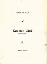 Thumbnail image of Brooklyn Kosmos Club 1918-19 Members' Book cover