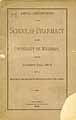 Thumbnail image of University of Michigan 1885-6 School of Pharmacy Catalogue cover