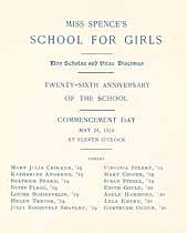 Thumbnail image of Miss Spence's School for Girls 1918 Commencement cover