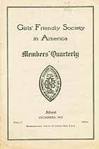 Thumbnail image of Girls' Friendly Society December 1913 Newsletter cover