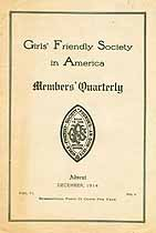 Thumbnail image of Girls' Friendly Society December 1914 Newsletter cover