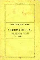 Thumbnail image of Vermont Mutual Fire 1852 Insurance Report cover