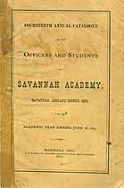 Thumbnail image of Savanna Academy 1873 Catalogue cover