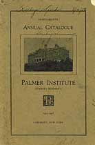 Thumbnail image of Palmer Institute 1927-28 Catalogue cover