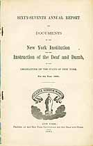 Thumbnail image of New York Deaf and Dumb Institute 1885 Report cover