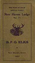 Thumbnail image of New Haven Lodge, No. 25, B.P.O.E. 1924 Directory cover
