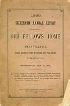 Thumbnail image of Philadelphia Odd Fellows' Home 1889 Report cover