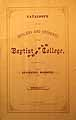 Thumbnail image of Baptist Female College 1872-3 Catalogue cover