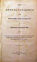 Thumbnail image of Marion College 1835 Catalogue cover