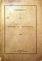 Thumbnail image of University of Missouri 1867 Catalogue cover