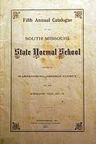 Thumbnail image of South Missouri Normal School 1875-76 Catalogue cover