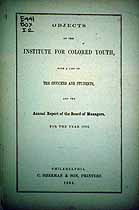 Thumbnail image of Institute for Colored Youth 1862 Catalogue cover