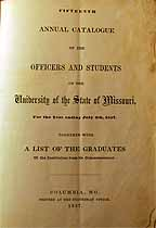 Thumbnail image of University of Missouri 1857 Catalogue cover