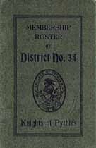 Thumbnail image of New Jersey District K. of P. No. 34 Membership Roster for 1916 cover
