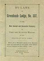 Thumbnail image of Greenbush Lodge, F. & A. M. 1900 By-Laws cover