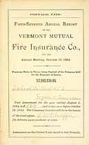 Thumbnail image of Vermont Mutual Fire Ins. 57th Annual Report cover
