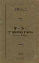 Thumbnail image of Muskogee First Presbyterian Church 1924 Year Book cover