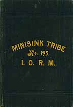 Thumbnail image of Minisink Tribe, No. 195, I.O.R.M. cover