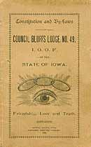 Thumbnail image of Council Bluffs Lodge No. 49, I.O.O.F. 1890 Roster cover