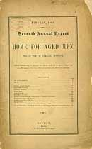 Thumbnail image of Boston Home for Aged Men 1868 Report cover