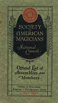 Thumbnail image of American Magicians Society 1930 Members List cover