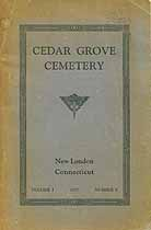 Thumbnail image of Cedar Grove Cemetery 1937 Lot Owners and Veterans cover