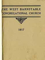 Thumbnail image of West Barnstable Congregational Church 1917 Members cover
