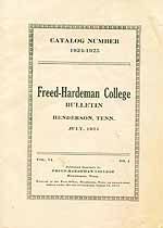 Thumbnail image of Freed-Hardeman July 1924 College Bulletin cover