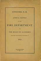 Thumbnail image of Concord Fire Department 1916 Report cover