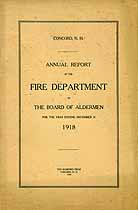 Thumbnail image of Concord Fire Department 1918 Report cover