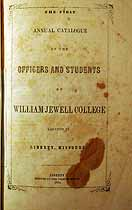 Thumbnail image of William Jewell College 1854 Catalogue cover