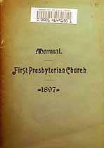 Thumbnail image of Kansas City First Presbyterian Church 1896 Manual cover