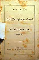 Thumbnail image of St. Louis First Presbyterian Church 1861 Manual cover