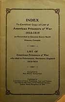 Thumbnail image of American Prisoners of War 1812-1815 cover