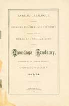 Thumbnail image of Onondaga Academy 1893-94 Catalogue cover